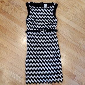 Cache B/W Zig zag design Dress